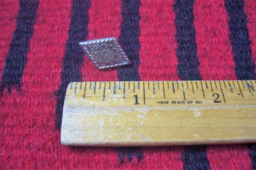 "Vtg German Silver 1/2"" x 3/4"" Diamond Concho for Western Headstall/Parade Bridle"