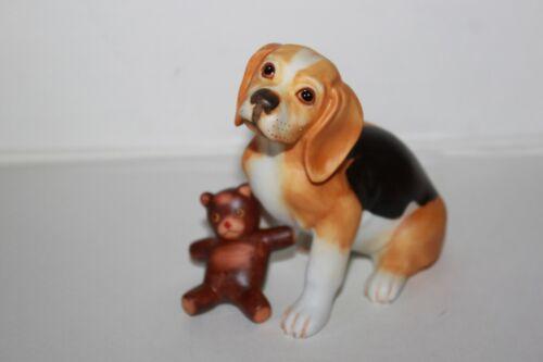 Vintage Franklin Mint World Of Puppies Beagle Dog Figurine