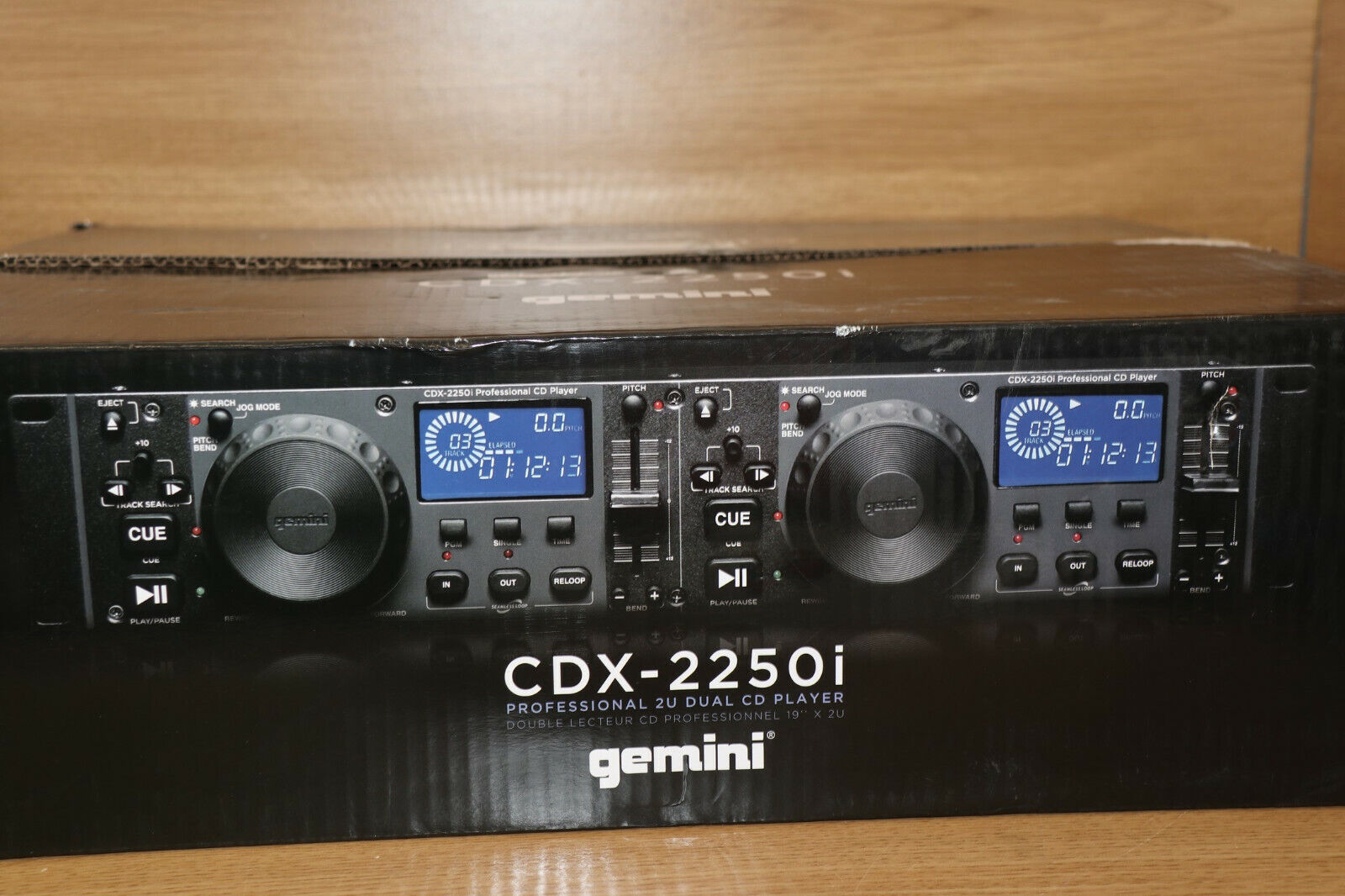 GEMINI CDX-2250i TWIN DJ CD PLAYER WITH MP3 USB 19'' RACK MOUNT UK #11