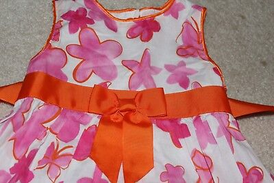 Girl Butterfly and Pink/Orange Flower Dress for Easter-Wedding Size5 by Nannette (Pink And Orange Flower Girl Dresses)