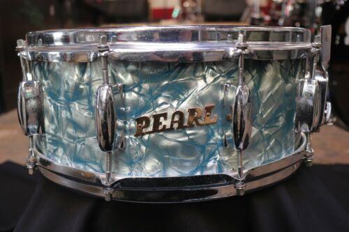 Pearl 5.5x14 Snare Drum Sky Blue Pearl Vintage 1960
