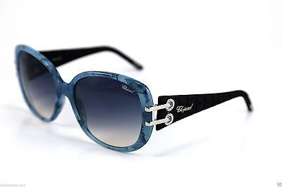 CHOPARD SCH109S SCH 109S 9AM BLACK BLUE MARBLE W  GREY SUNGLASSES 58-16- 120152d05a7