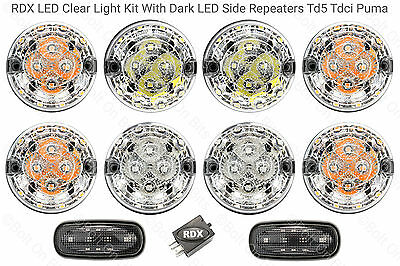 RDX LED CLEAR 8 Lamp/lights Side Repeaters Defender 1998 to 2016 Td5/Tdci D