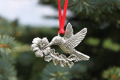 Hastings Pewter Lead Free Pewter Hummingbird Ornament bird holiday gift USA  NEW