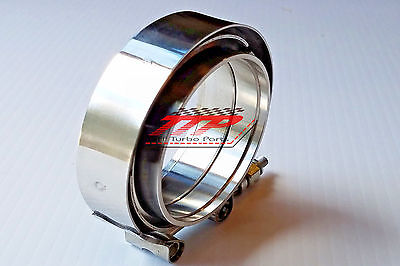 """3"""" Inch Mild Steel MALE-FEMALE V-Band Clamp Flange Kit Turbo Exhaust Downpipes"""