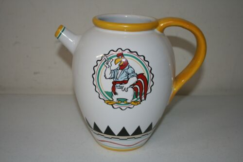 RARE CERAMIC Looney Tunes KITCHEN Foghorn Leghorn Milk Pitcher Water 1992 Studio