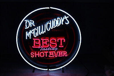 Dr. McGillicuddy's Liqueur Best Tasting Shot Ever Neon Beer Sign 23
