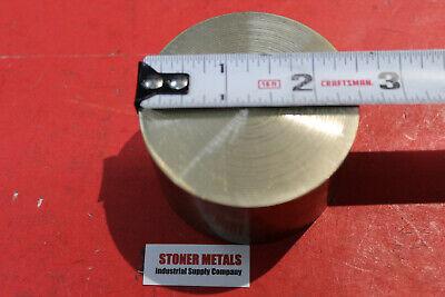 2-12 C360 Brass Round Rod 1 Long Solid H02 Lathe Bar Stock 2.50 Diameter