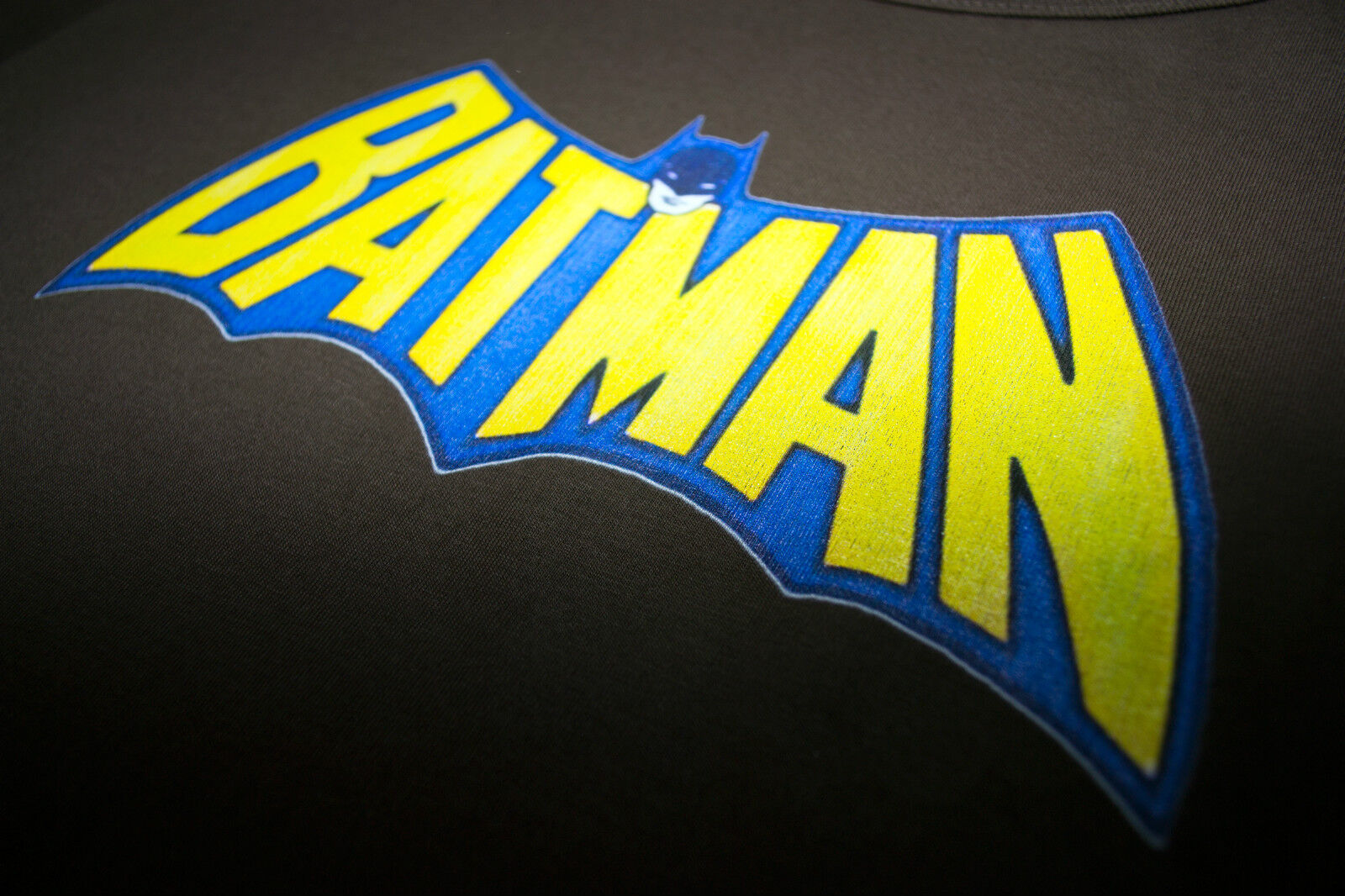 Batman NEW /& OFFICIAL Classic Distressed Adam West Logo T shirt