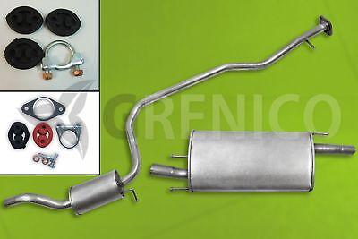 Montagesatz ENDSCHALLDÄMPFER Auspuffanlage 1.3 1.25 // 1.4 Ford Fiesta V