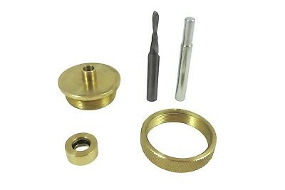 Router Inlay Kit Solid Brass 3 Piece Guide Bushings 18 Carbide Bit Included