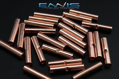 8 Gauge Copper Butt Connector 50 Pk Crimp Terminal Awg Battery Cur8