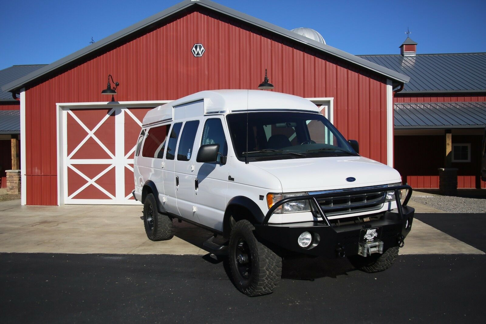 Used Ford Cars Trucks Suvs Vans For Sale: 2001 Ford E350 Quigley 4x4 Conversion With 7.3 Diesel And