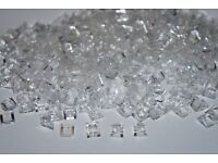 54200 Lot of 50 /'Cheese/' Slope New Lego TRANS CLEAR 30 degree SLOPE 1x1 x 2//3