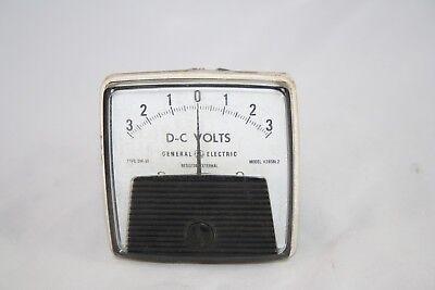 Vintage General Electric Panel Meter 3-0-3 Vdc Model V285bl2 Type Dw91 Steampunk