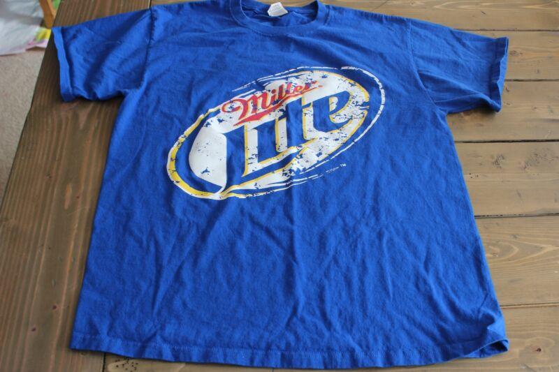 Miller Lite Jesse Oaks Gages Lake Illinois Bar T Shirt Size Large