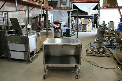 National Cart Ss-dd-2436 Stainless Store Food Demo Cart Display Sample Nsf Kiosk