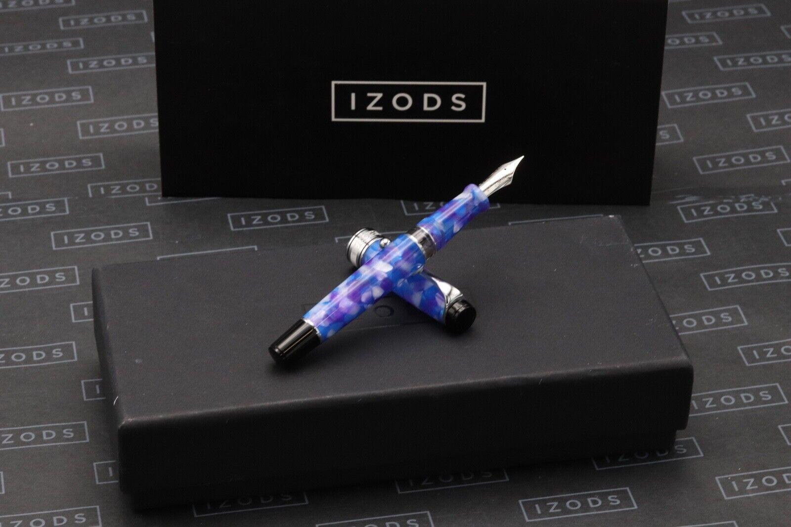 Aurora Optima Caleidoscopio Luce Blu Fountain Pen - NEVER INKED