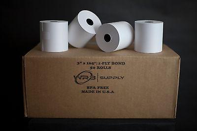 1-ply Kitchen Printer Paper Bond 3x165 50 Rolls