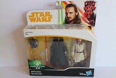 Darth Maul and Qui Gon Jinn, Star Wars, 3.75 inch Action Figures, NEW