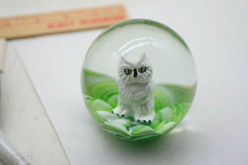 """Vintage  3""""  St. Clair Owl Art Glass Paperweight  Rare! F5"""