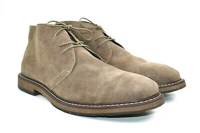 Joseph Abboud Men's Brown Suede Leather Chukka Boots Size 13