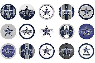15 Pre-Cut Dallas Cowboys 1 Inch Bottle Cap Images