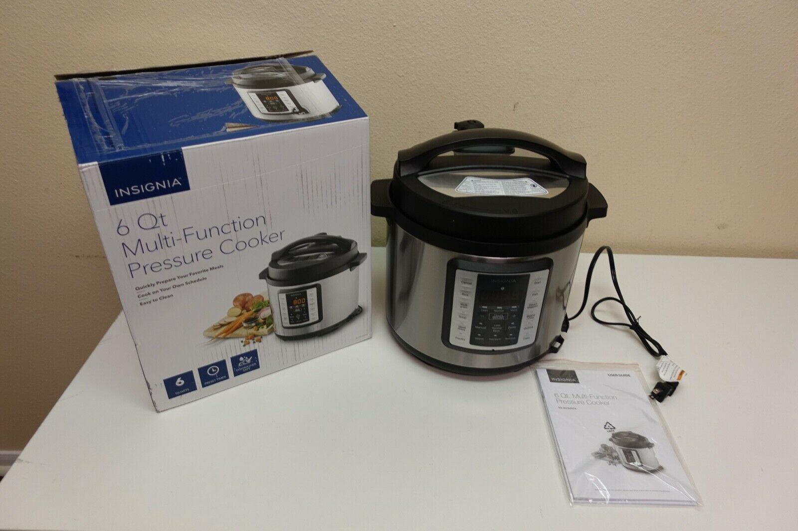 Insignia- 6-Quart Multi-Function Pressure Cooker - Stainless