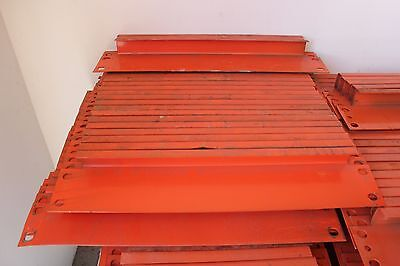 24 Pcs. Of Pallet Rack 24 Row Spacers - Orange Color - In Used Condition