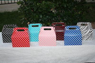 Polka Dots Minnie Mickey Ladybug Birthday Favor Goody Treat Boxes Bags You