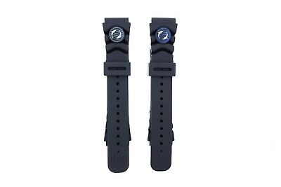 OEM Orient Watch Mako & Ray Rubber Diver Strap Blue Dolphin (Mako II Ray II) Blue Rubber Strap Watch