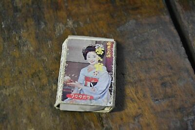 Vintage Matchbox Cover Box Chinese or Japanese Oriental Geisha Girl - Chinese Or Japanese Girls