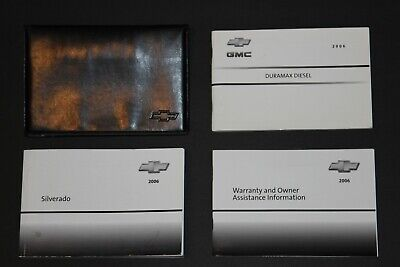 2006 06 Chevy Silverado 2500hd 3500hd DURAMAX Diesel Owners Manual Book Set RARE