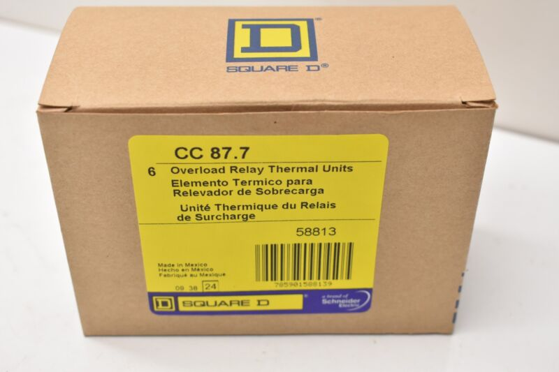 Square D CC87.7 Overload Relay Thermal Unit Lot of 6