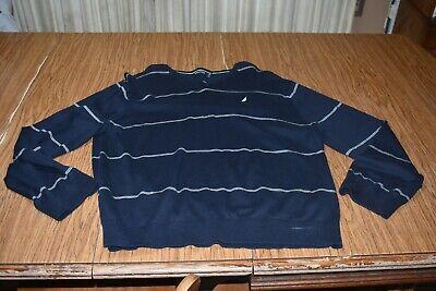 Striped V-neck Pullover (NAUTICA Men's Striped V-Neck Sweater Navy XXL 2XL EUC Pullover)