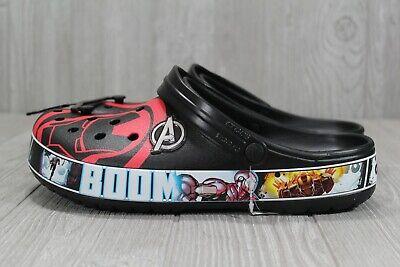 42 Marvel x Crocs Super Hero Iron man ADULT mens Size 11 water shoes Crocband™