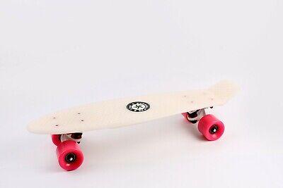 "22"" Skateboard [GLOW(WHITE)/PINK] Penny Style Cruiser Board. ABEC-9 Bearing."