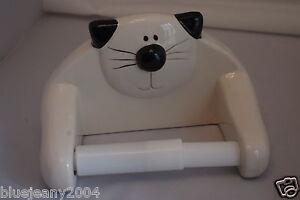 Novelty Ceramic Black White Cat Toilet Roll Holder Ebay