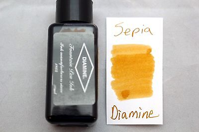 Diamine 30ml  Fountain Pen Bottled Ink Sepia
