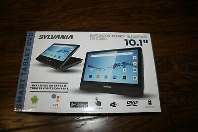 "NEW SYLVANIA 10.1"" SMART ANDROID TABLET DVD PLAYER 2 IN 1 COMBO SLTDVD1023"