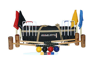 Gold Croquet Set- 4 Player Complete with bag and 4 mallets etc