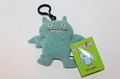 Gund Ugly Doll Keychain Ice Bat Light Blue New With Tags Clip On Plush Keychain