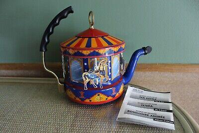 Vintage Kamenstein World of Motion MKI Steam Driven Carousel Tea Kettle