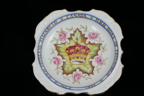 1951 Princess Elizabeth Canada Duke of Edinburgh Souvenir Ashtray/Small Dish
