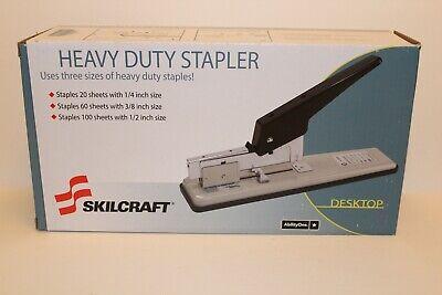 Skilcraft Heavy Duty Office Desk 100 Sheet Capacity 38 14 12 Stapler 514