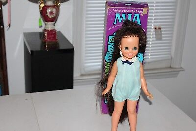 """VINTAGE IDEAL """"MIA"""" DOLL with HAIR THAT GROWS  in ORIGINAL BOX  VERY COOL!"""