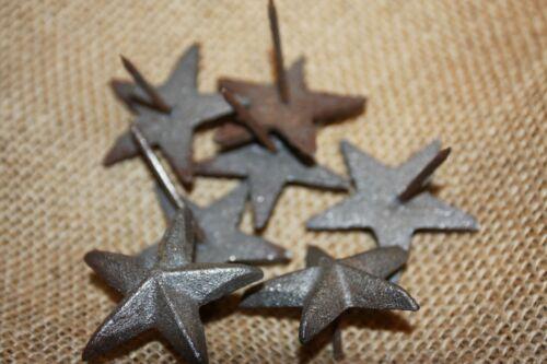 "(20) DIY Dutch Shutter Hardware Accents, Cast Iron Star Nails 1 3/4"", SN-A"
