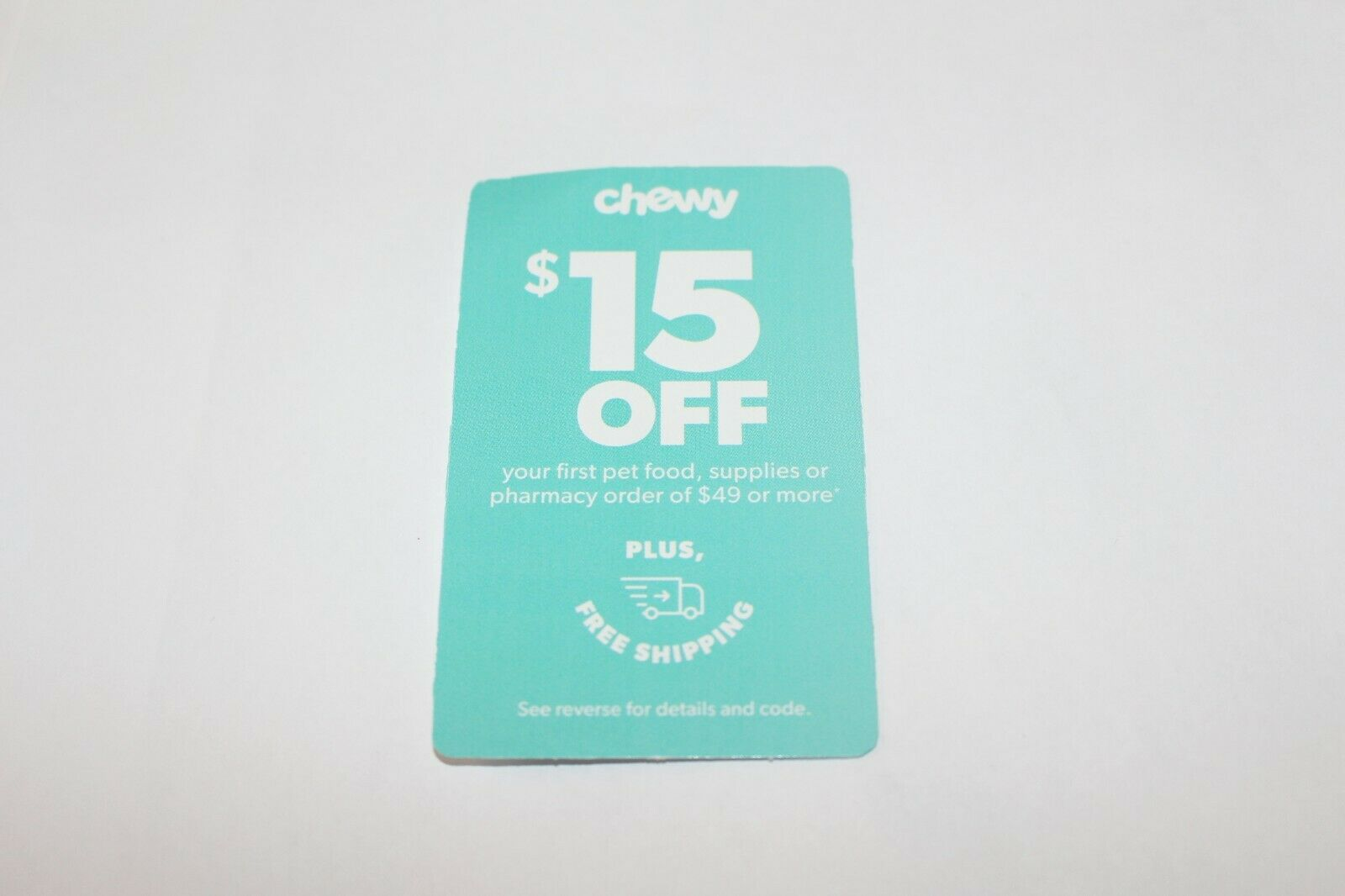 Chewy - 15 Off Your First Pet Food Supplies Order Of 49 Or More Exp 8-31-20  - $3.50