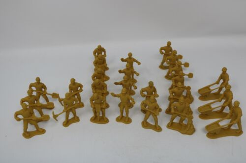 Toy soldier-type Road Construction Workers 25 pieces