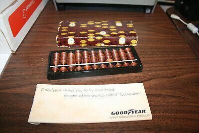 Vintage Goodyear Tires advertising Soroban Abacus Wooden Frame
